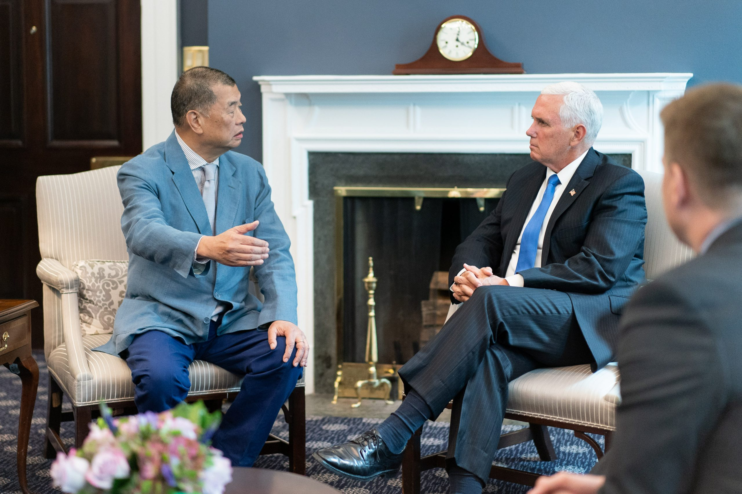 Jimmy Lai and Mike Pence